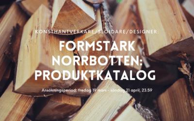 Formstark Norrbotten söker slöjdare till produktkatalog
